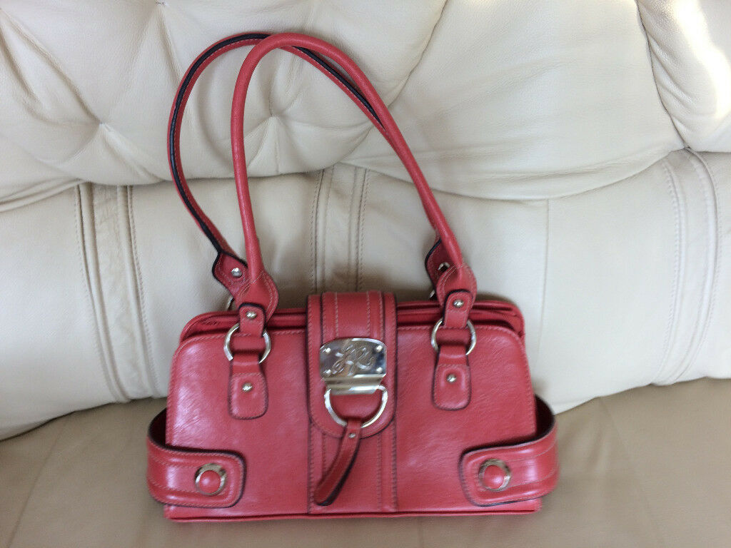 New - woman shoulder/handbag orange red