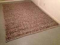 Large Habitat Wool Rug Thick Pile Woven Carpet - Hardly Used VGC - Size: 240cm x 170cm