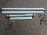 2 x ikea black out blinds with fixings. 54cm and 105cm widths. can be cut.