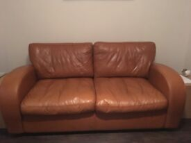 Great condition tan leather sofa £50