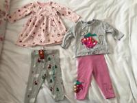9/12 Months Baby Girls Autumn/Winter/Christmas Clothes Bundle :)