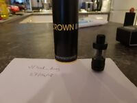 Crown 2 Sub Ohm tank - Black e cig / vape