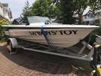 Power boat 85hp on trailer