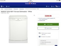 Indesit DFG15B1 Standard Dishwasher in White
