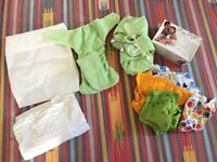 Reusable nappies set.