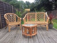 Conservatory furniture, double sofa, single chair and 3 tables