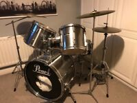Pearl Export Drum Kit with Many Extras