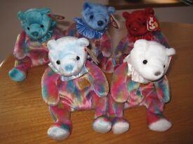 Ty Beanies - birthday bears