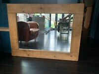 Large solid oak mirror
