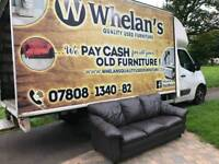 3 seater sofa in brown leather Hyde ( MINT MINT CONDITION)