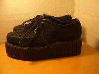 Women's Girls Black Suede Demonia 2 Inch Sole 101 Creepers (402S) UK Size 5