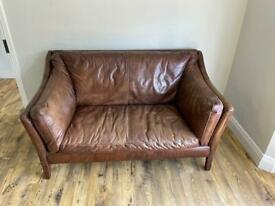 Halo Groucho 2 Seater (Small), Antique Whisky