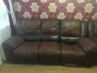 3 seater Recliner leather chair