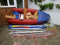 Tinker Super Tramp Inflatable Sailing Dinghy.