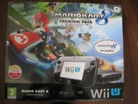 Nintendo Wii U Console and Mario Kart 8 Game