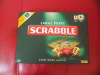 Large Print Scrabble board game for visually impaired.