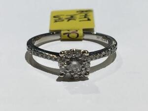 #1447 14K WHITE GOLD LADIES ENGAGEMENT RING *SIZE 6 1/2* JUST BACK FROM APPRAISAL AT $2550.00 SELLING FOR ONLY $895.00!