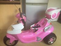 Pink 6v battery operated motorbike