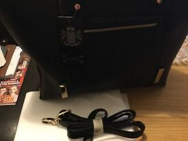 Ladies nice shopping bag black pocket at front New as u see