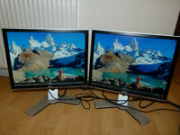 "Two Dell 20.1"" LCD Monitors (ULTRASHARP 2007FP - 1600x1200p)"