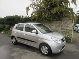 KIA PICANTO 1L 5 DOOR HATCH 2009 ONLY 49K MILES LONG MOT PLUS HISTORY.