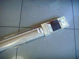 "NEW Attitude FAUX SUEDE BEIGE Roman Blind 120cm (4ft) Wide x 160cm (5ft3"") Drop - Delivery available"