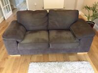 LARGE GREY TWO SEATER SOFA IN EXCELLENT CONDITION ,FREE LOCAL DELIVERY