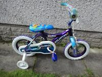 Equator sweet misty under water cutie bike with stabilisers 12 inch wheels suit age 2 to 4 years