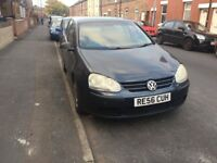 Volkswagen Golf 2006 (56 plate) navy blue