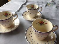 Pretty Spode cups and saucers, sadly only 5 of each