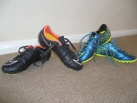 Kids Football Boots and Astro's (Nike) Size 1 and 2 respectively