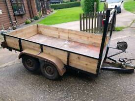 8x4 twin axle trailer