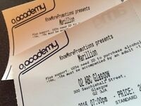 Two (2) tickets for Marillion in Glasgow on the 30 November 2016