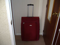 Deep Red Carlton Suitcase for Sale