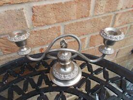 Vintage silver plated candelabra