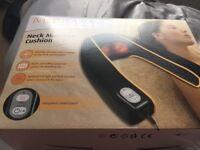 Electric heat neck massager