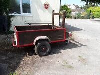 Trailer . Single axle. Good condition with spare wheel and cover