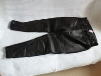 """Leather Motorcycle Trousers, 36/37""""Waist. New and unworn."""