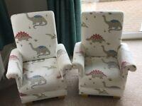 Children's dinosaur armchairs