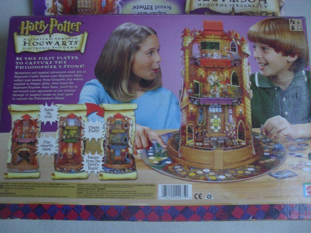 HARRY POTTER ELECTRONIC 3D GAME - ADVENTURES THROUGH HOGWARTS - GOOD CONDITION - HIGHLY COLLECTABLE
