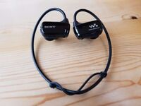 SONY NWZW270S WATERPROOF 4GB MP3 HEADPHONES EARPHONES SPORTS
