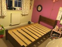 Warren Evans wooden single bed