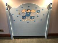 Children's single bed pirate headboard
