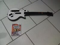 Wii Guitar Hero and game