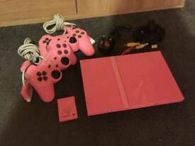 Pink slimline ps2