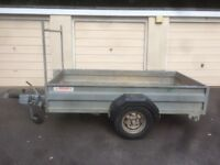 BOX TRAILER > Heavy Duty, Braked Single Axle (1300kg Max Gross), with 8'x4' Box & Drop Tail Gate