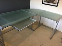 John Lewis tempered glass office desk