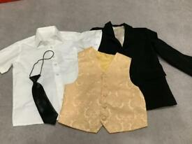 7-8 years boys Halloween, dressing up. Jacket, waistcoat, shirt and tie