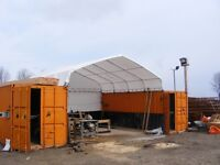Container Shelter - Canopy for shipping containers - Container Canopy - 19.7 x 19.7 ft (6 x 6 m)