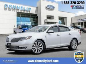 2016 Lincoln MKS EcoBoost CPO, AWD, SUNROOF, NAV